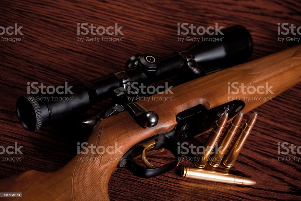 Prepared for hunting stock photo