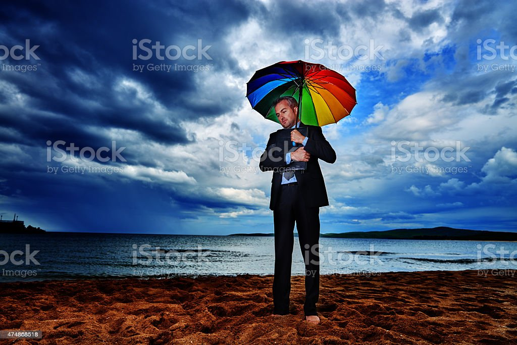 prepared for the storm stock photo