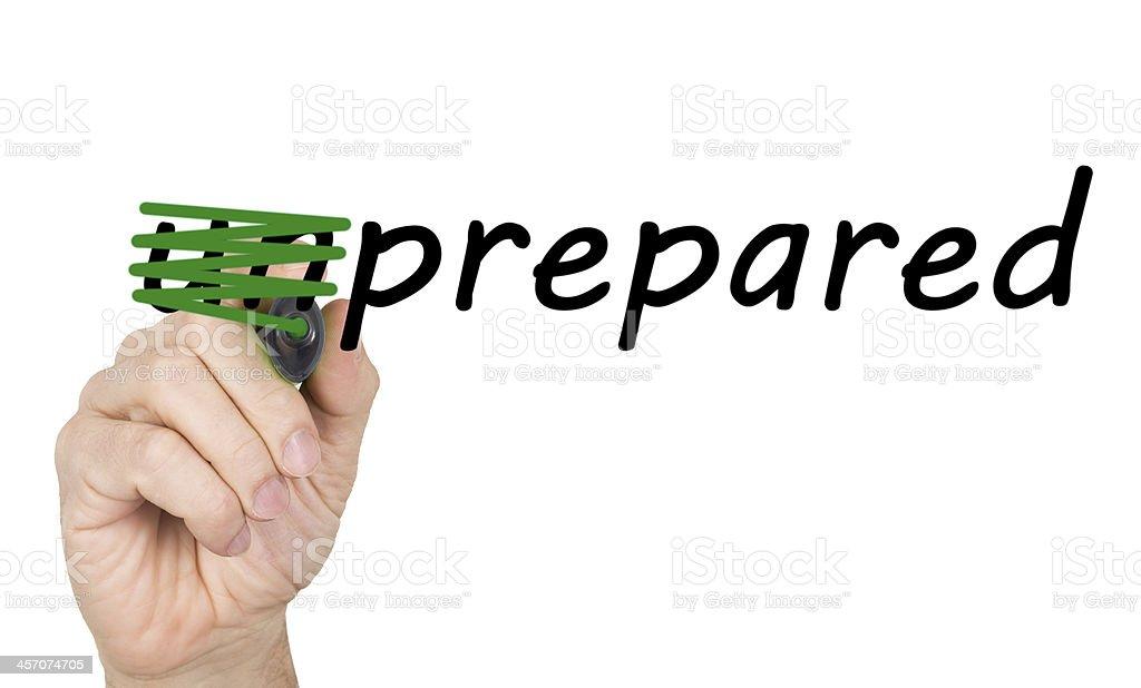 Prepared or Unprepared royalty-free stock photo