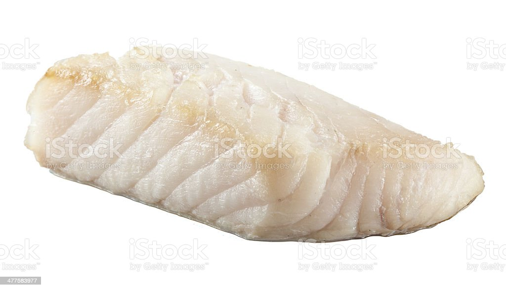 Prepared pangasius fish fillet pieces stock photo