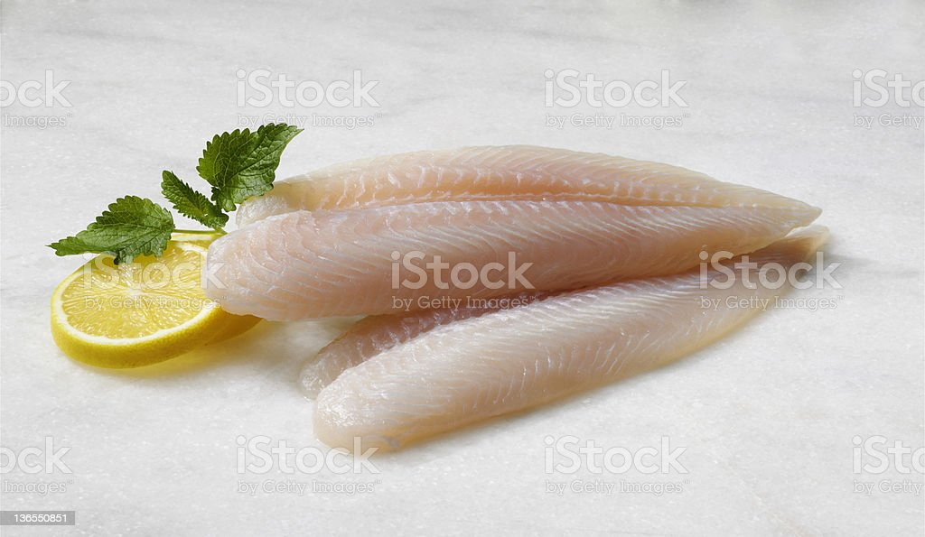 prepared sea bass fillets stock photo