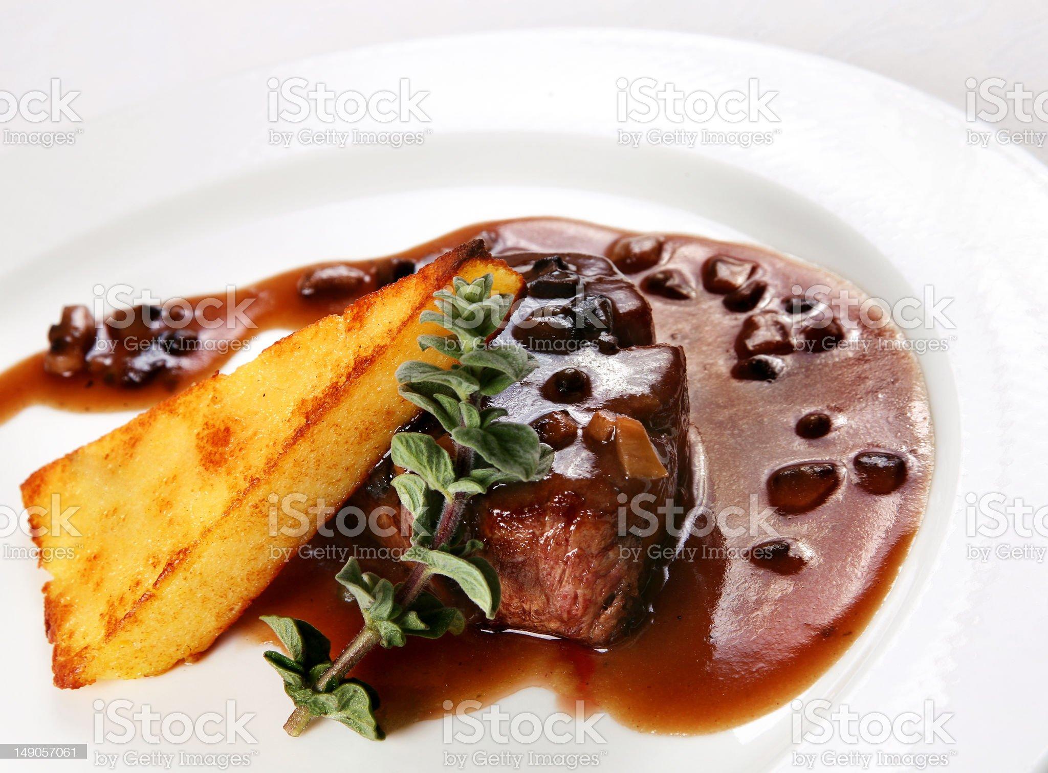 Prepared steak beef royalty-free stock photo