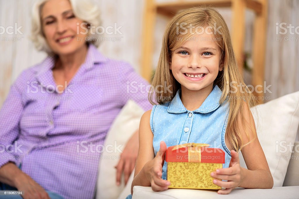 I prepared this present for my granny stock photo