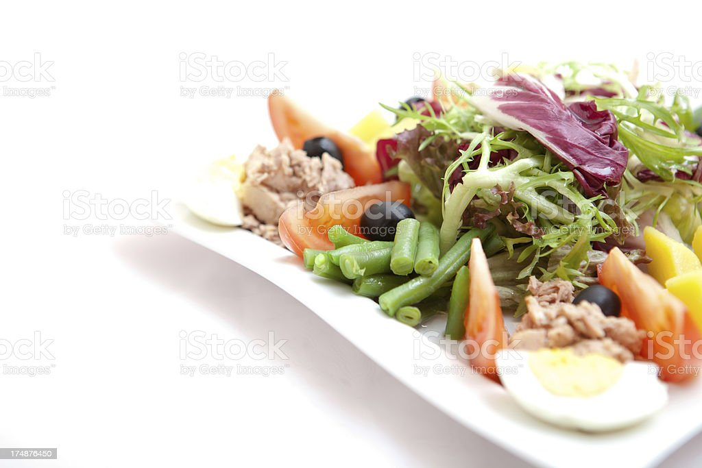 Prepared tuna with mixed vegetables stock photo