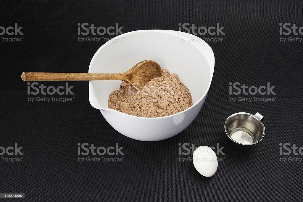 Preparing a brownie dough royalty-free stock photo