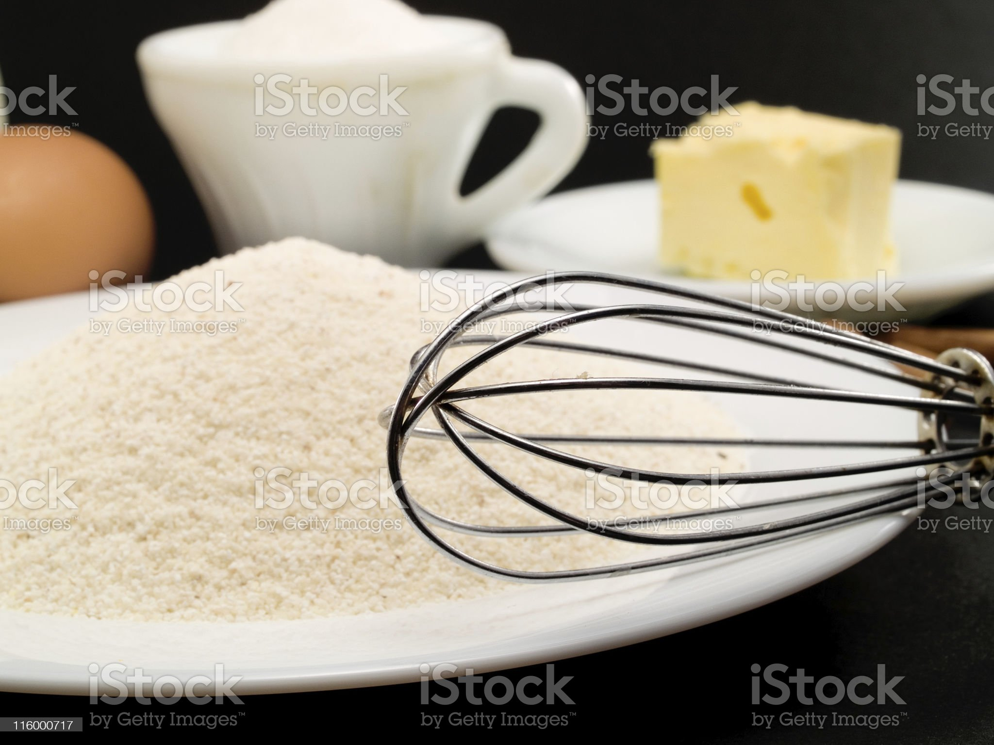 Preparing a Cake royalty-free stock photo