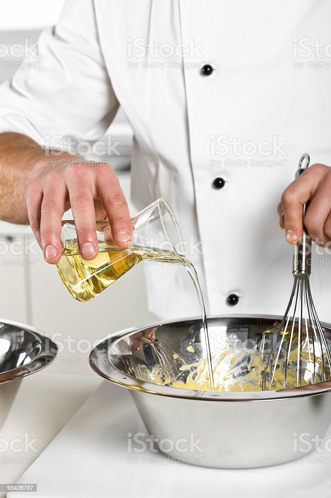 preparing a delicious sauce royalty-free stock photo