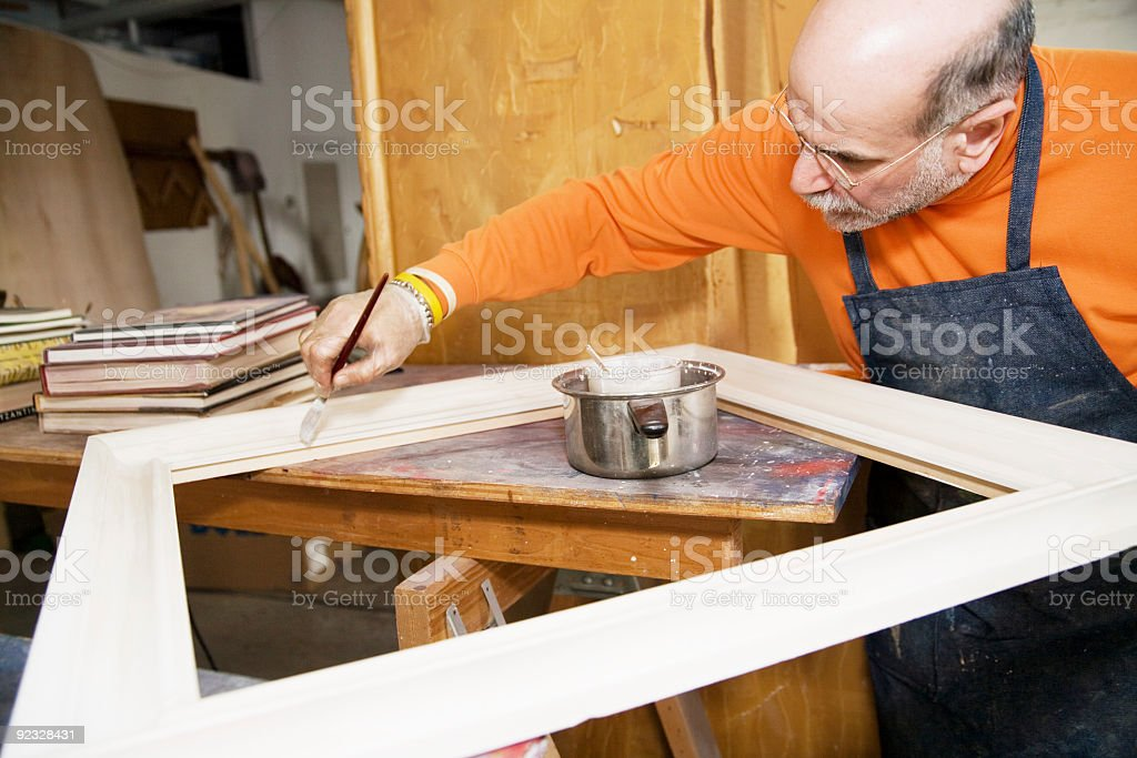 preparing a frame royalty-free stock photo