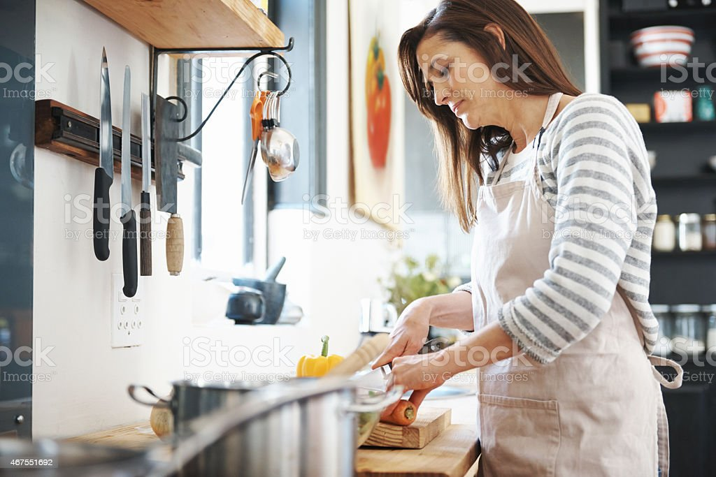 Preparing a healthy meal stock photo