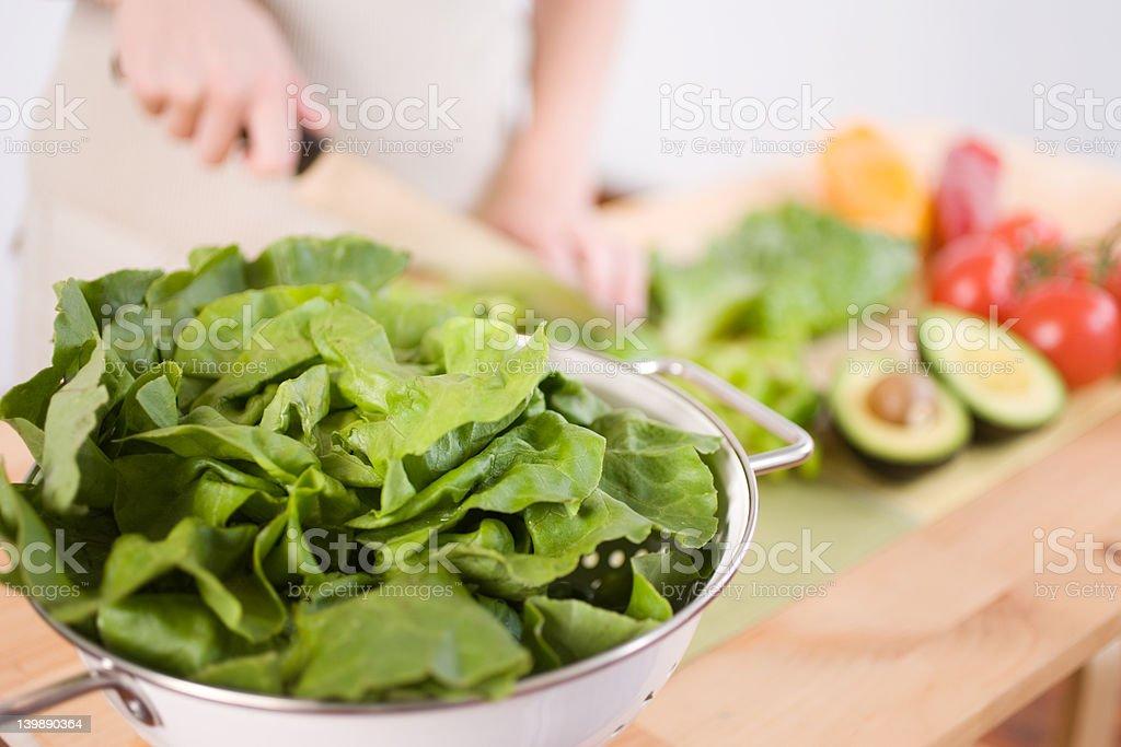 Preparing a Salad royalty-free stock photo
