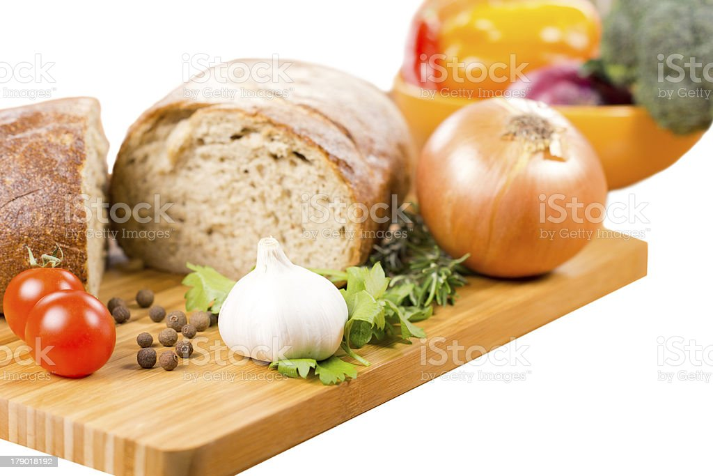 Preparing a savoury vegetarian meal royalty-free stock photo