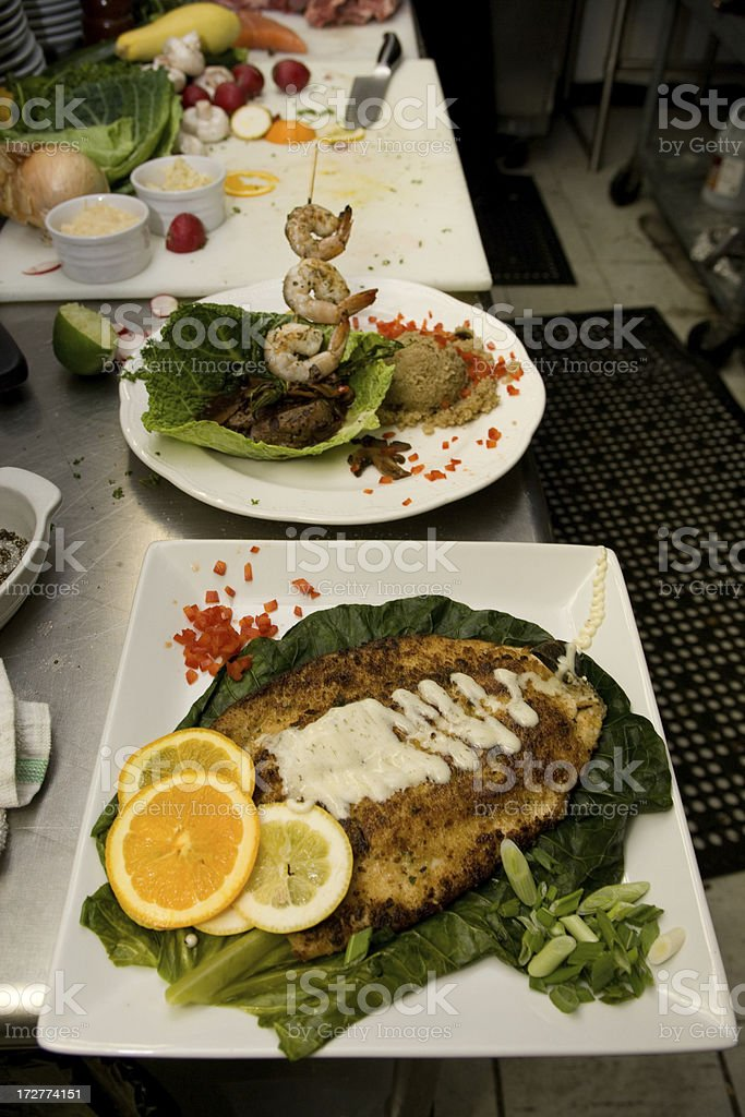 Preparing an elegant meal royalty-free stock photo