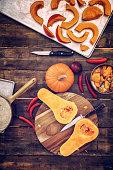 Preparing and Baking Fresh Pumpkins