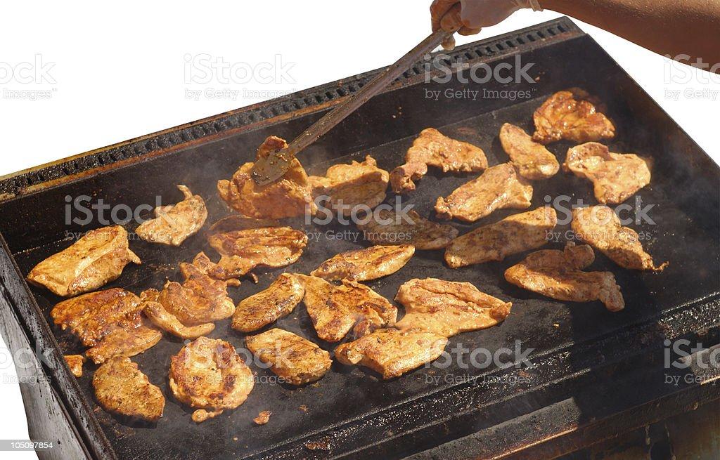 Preparing Chicken Steaks royalty-free stock photo