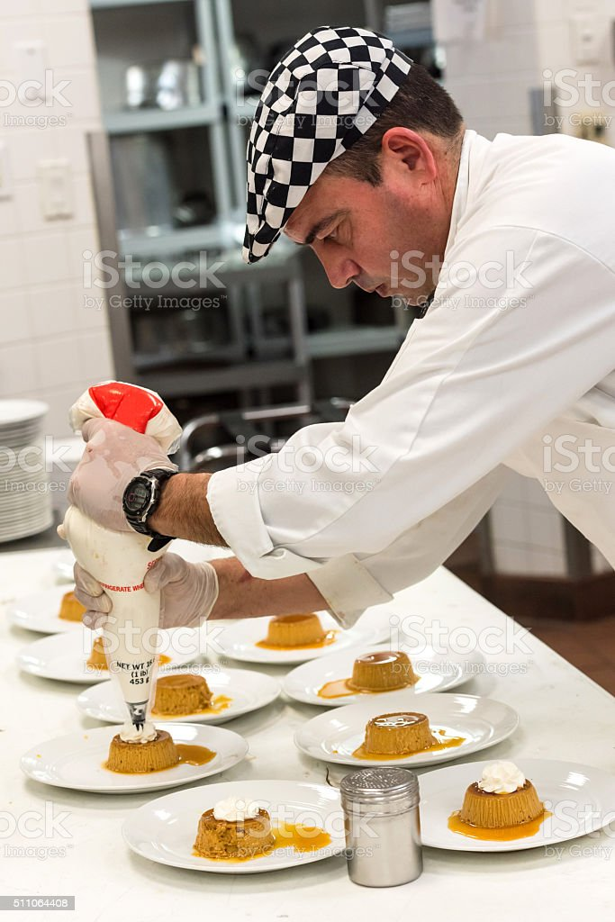 Preparing Desserts stock photo