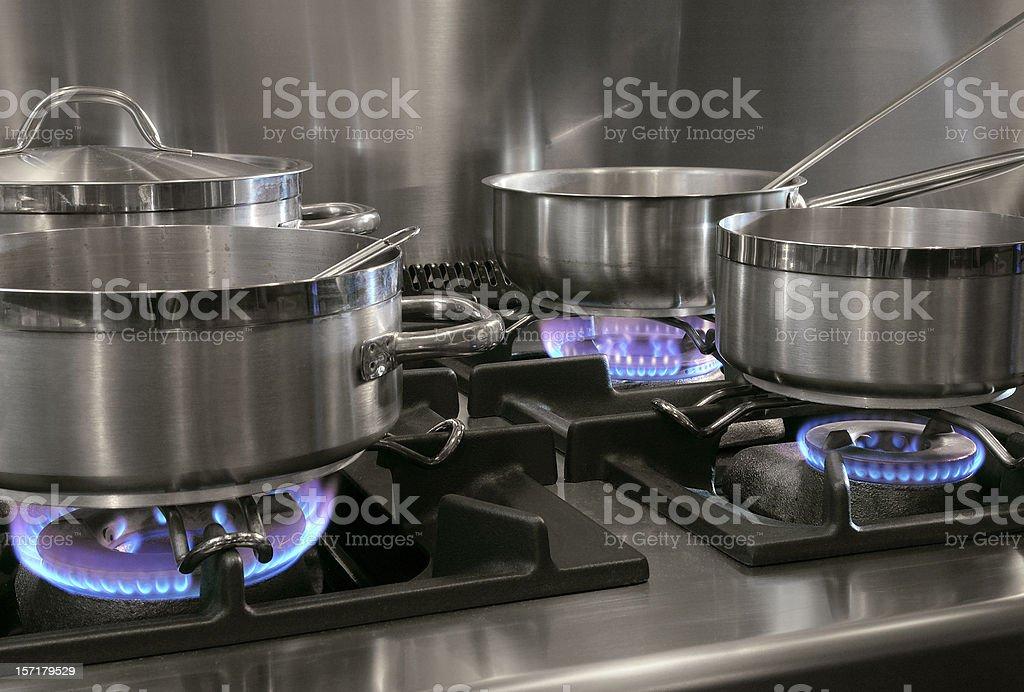 Preparing Dinner stock photo