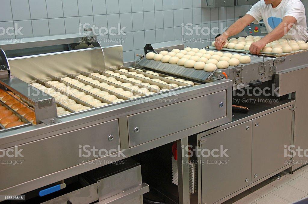 Preparing donuts stock photo