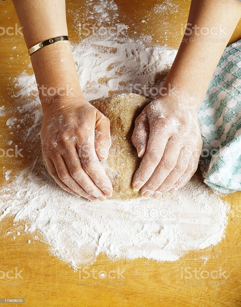 Preparing dough royalty-free stock photo