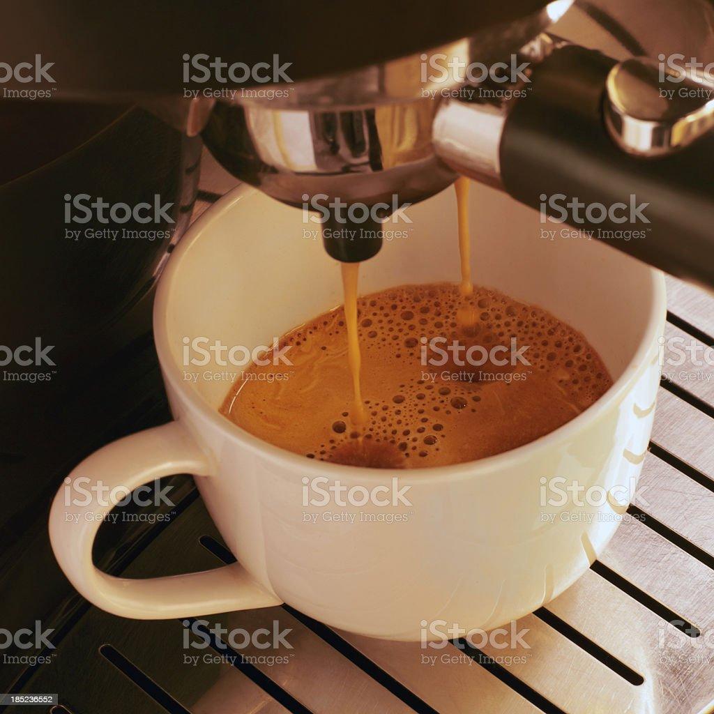 preparing espresso coffee royalty-free stock photo