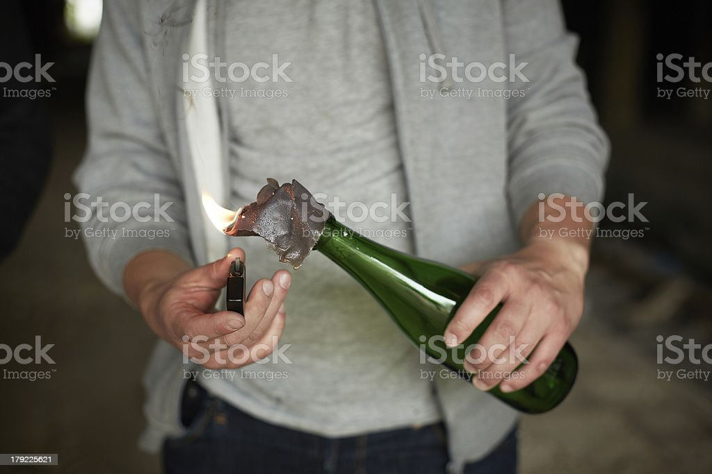 Preparing explosion stock photo