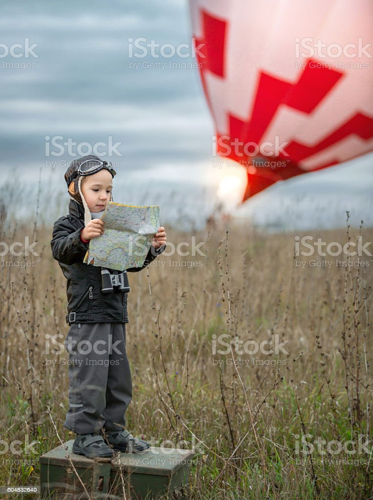 Preparing Flight stock photo