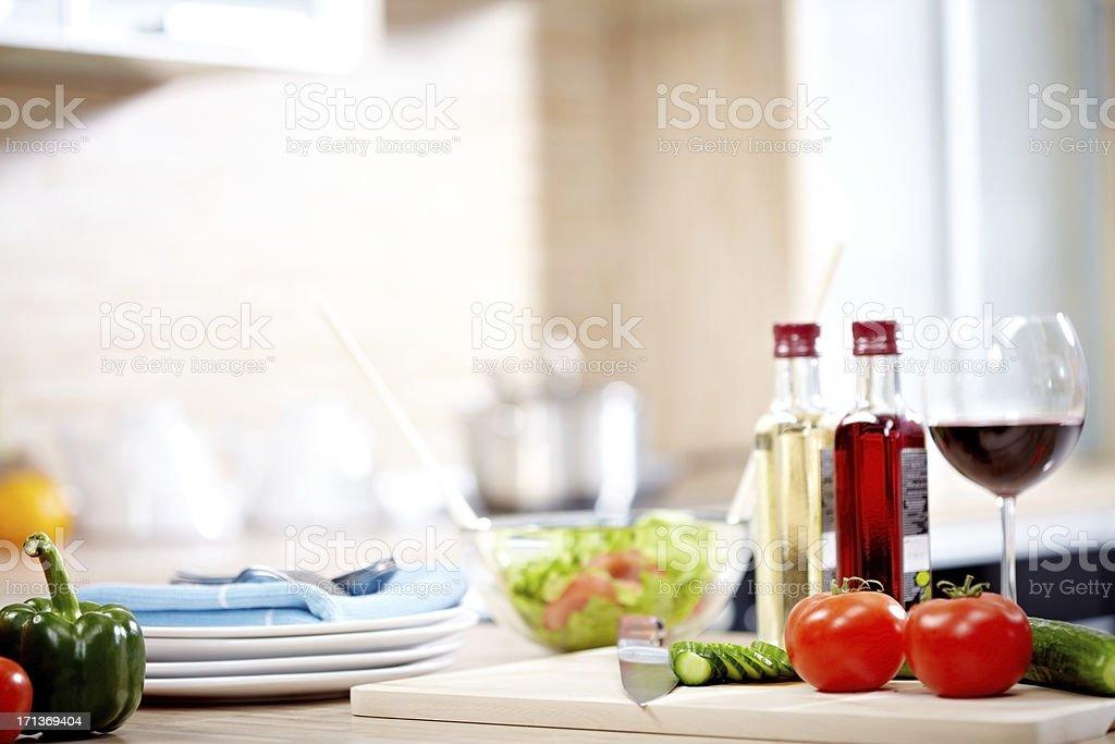 Preparing food stock photo