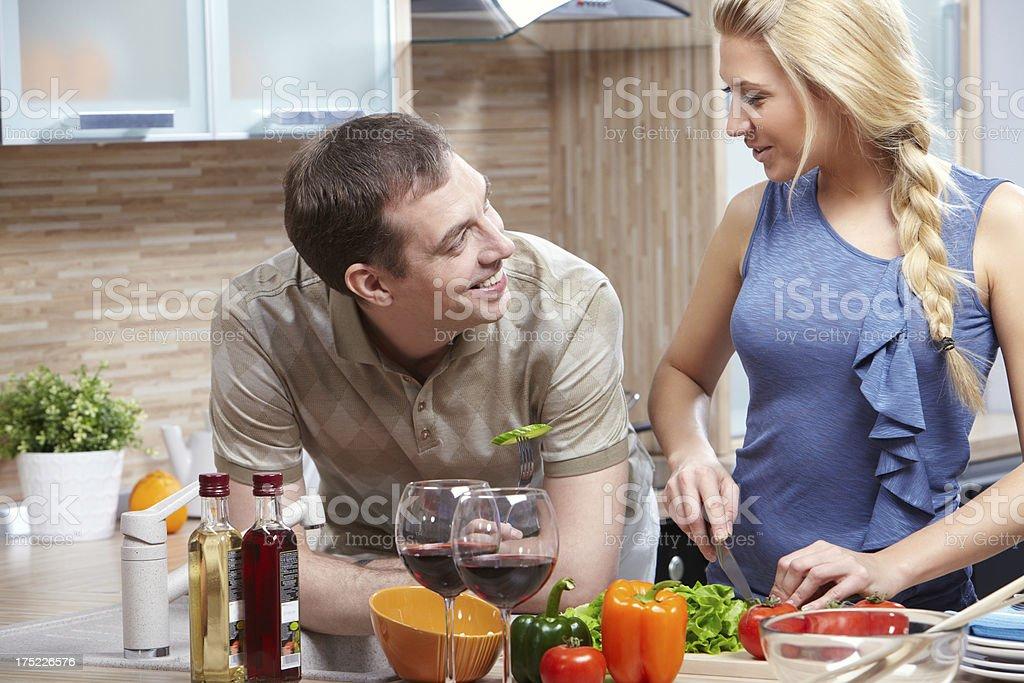 Preparing food royalty-free stock photo