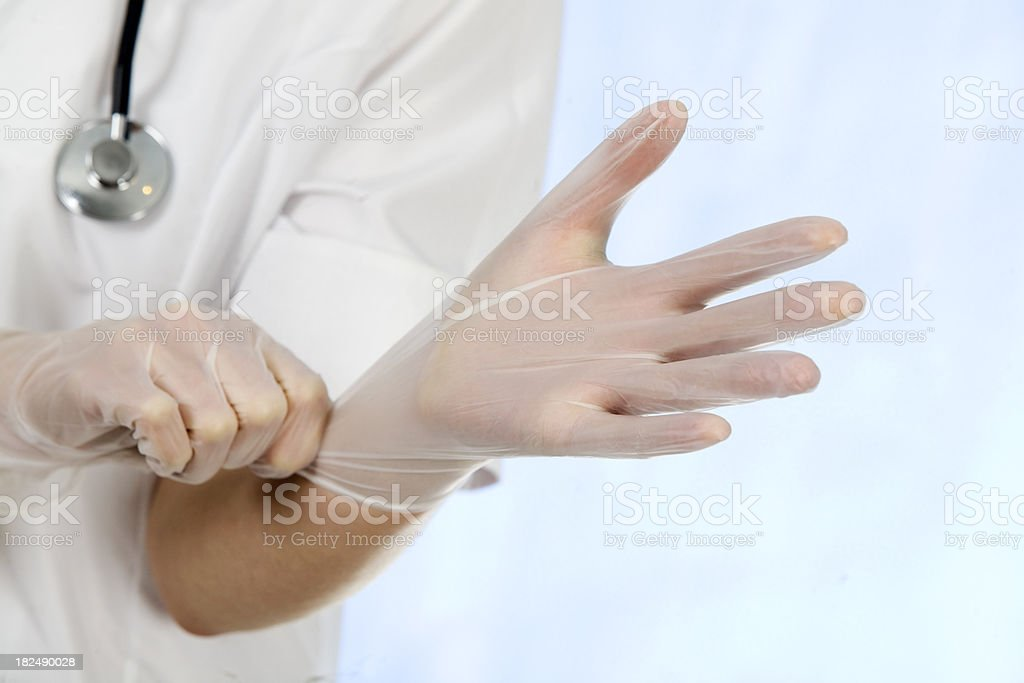 Preparing for a surgery royalty-free stock photo