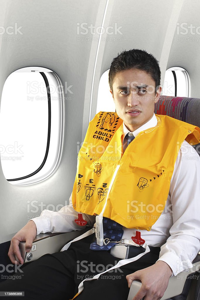 Preparing For A Water Landing royalty-free stock photo