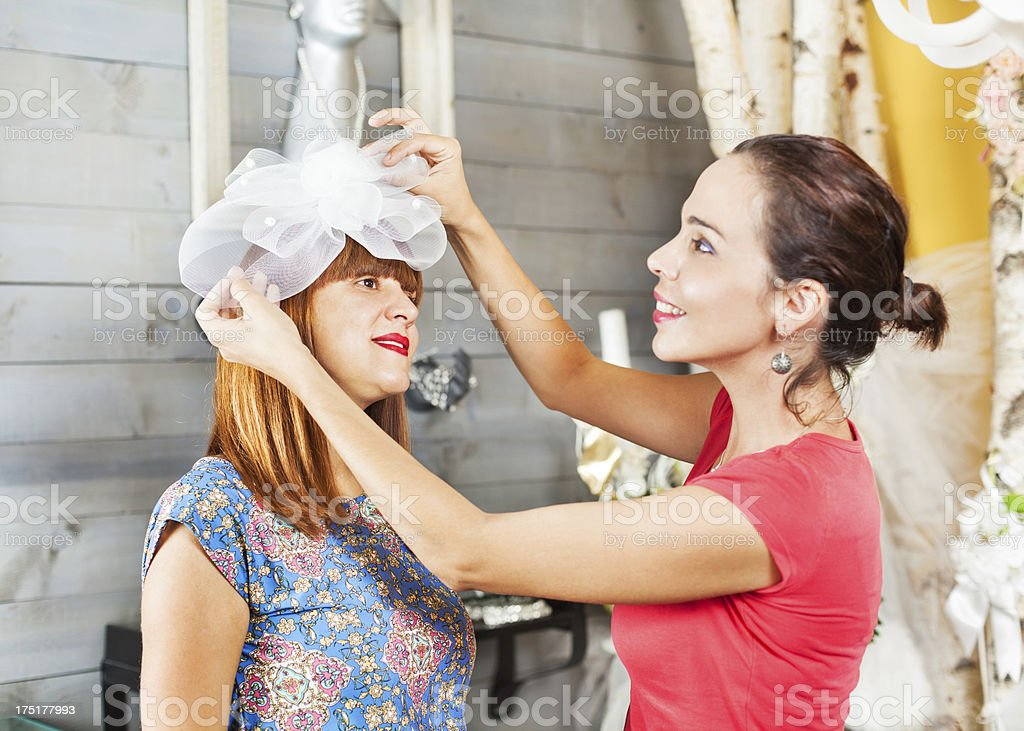Preparing for a wedding royalty-free stock photo