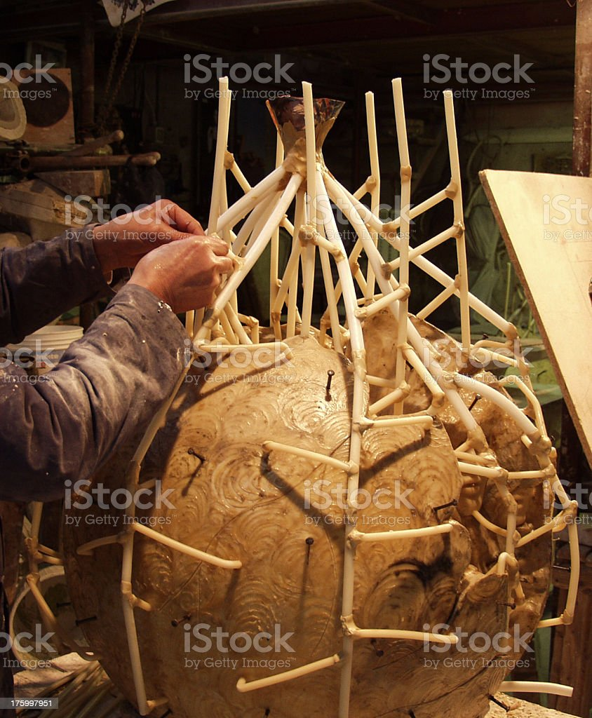 Preparing for Bronze Casting. royalty-free stock photo