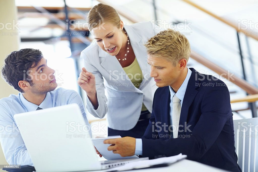 Preparing for business presentation royalty-free stock photo