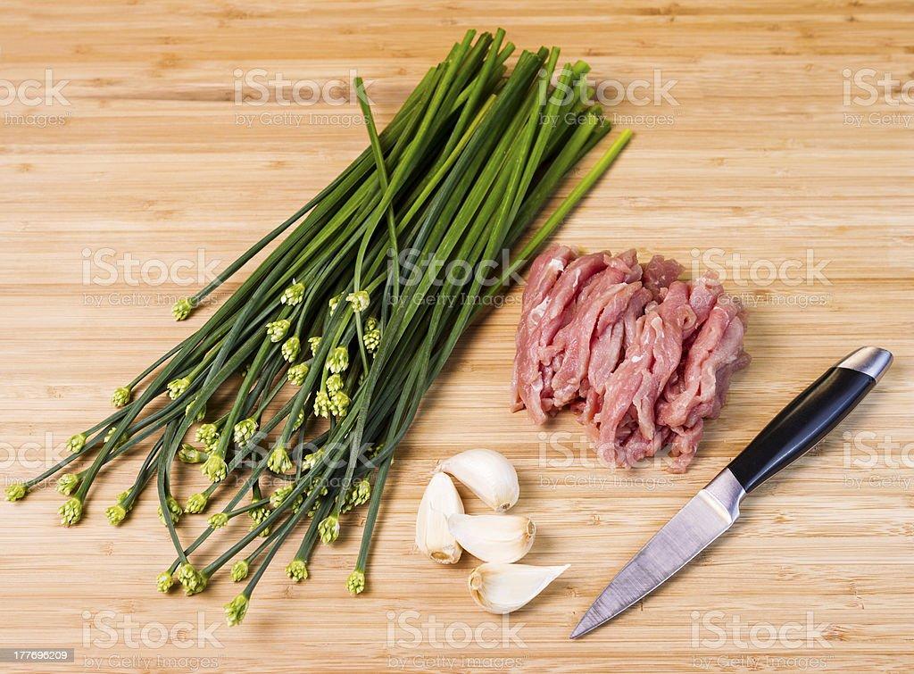 Preparing for Dinner royalty-free stock photo