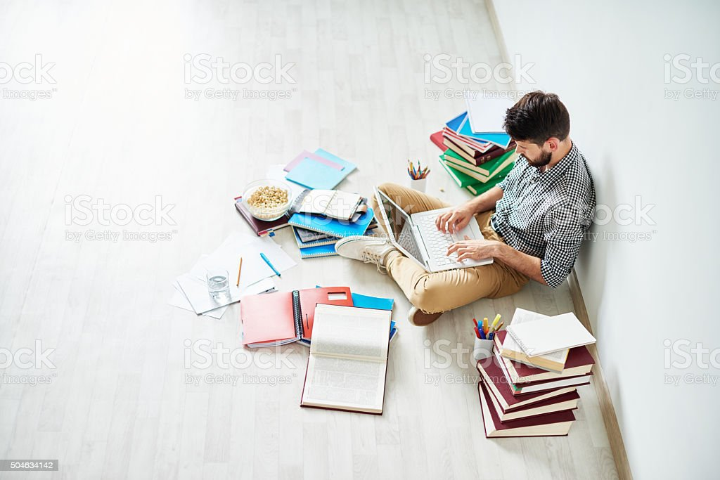 Preparing for exam stock photo
