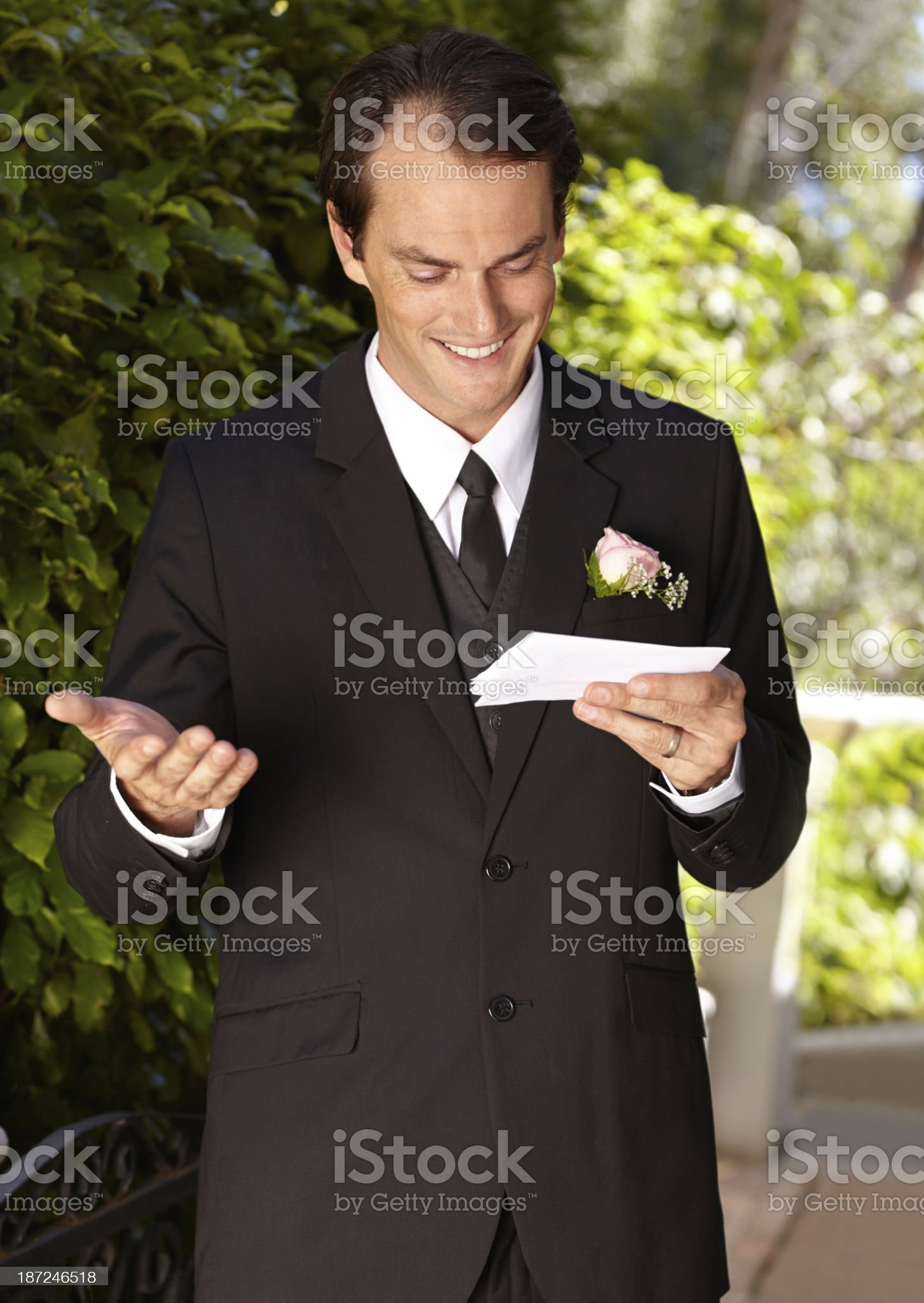 Preparing for his wedding vows royalty-free stock photo