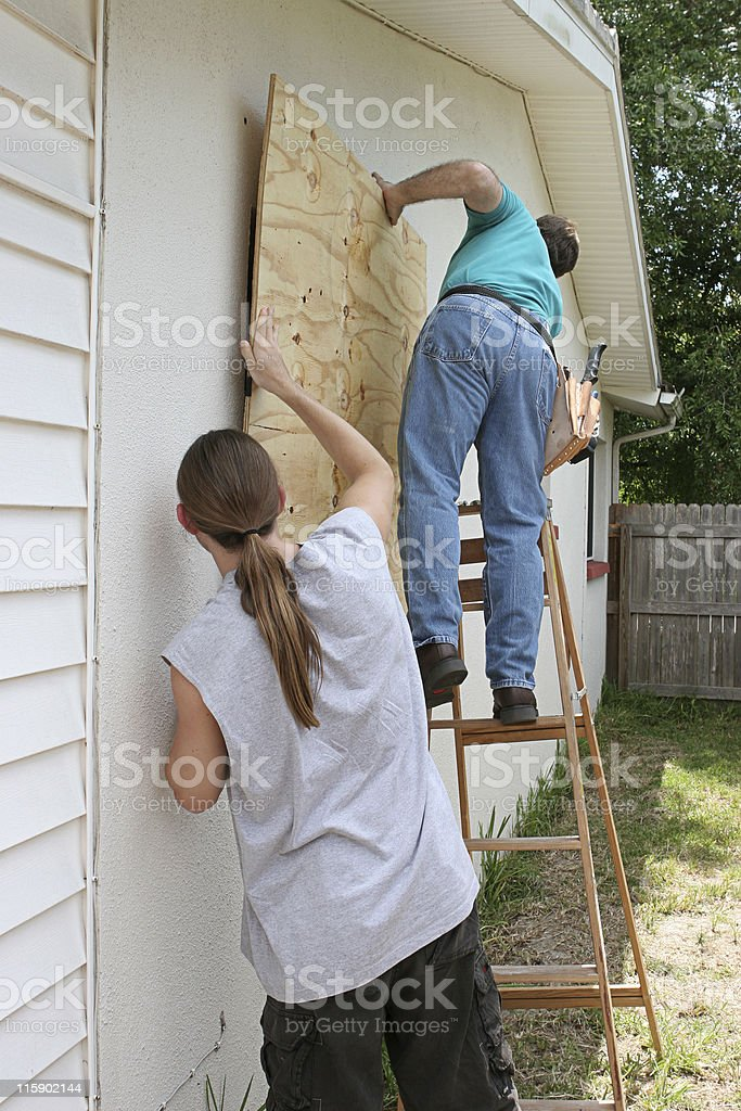 Preparing for Hurricane royalty-free stock photo