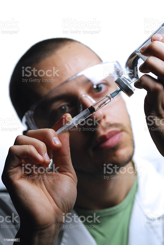 Preparing for injection royalty-free stock photo