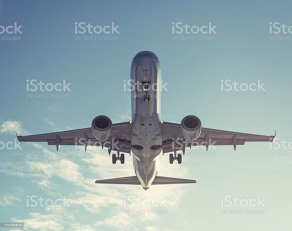 Preparing for Landing royalty-free stock photo