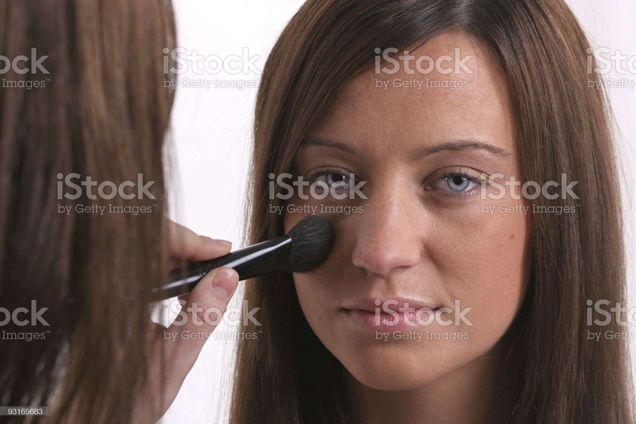 Preparing for makeup royalty-free stock photo