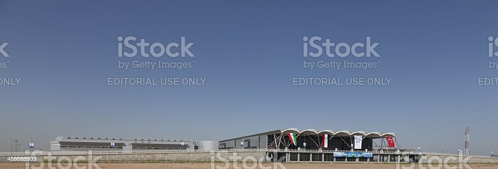 Preparing for opening ceremony of Erbil International Airport royalty-free stock photo