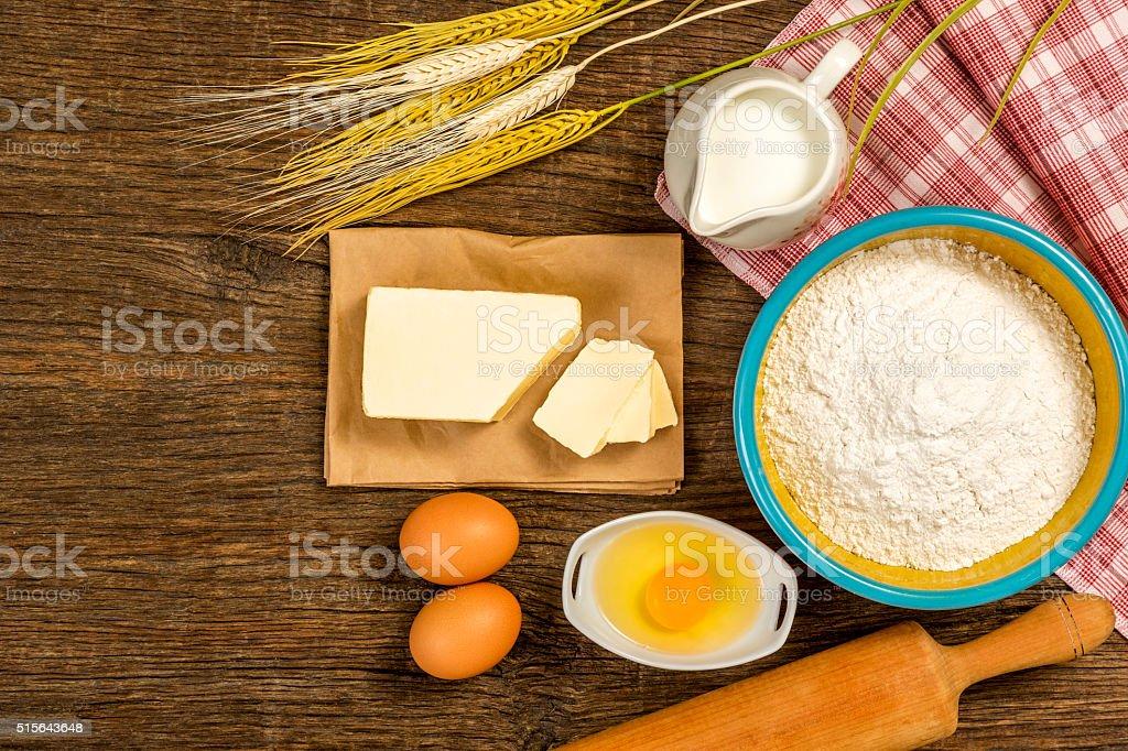 preparing for pastry stock photo