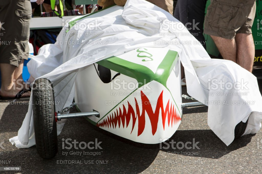 Preparing for Soapbox car race in Munich royalty-free stock photo