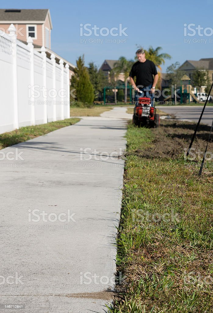 Preparing for Sod royalty-free stock photo
