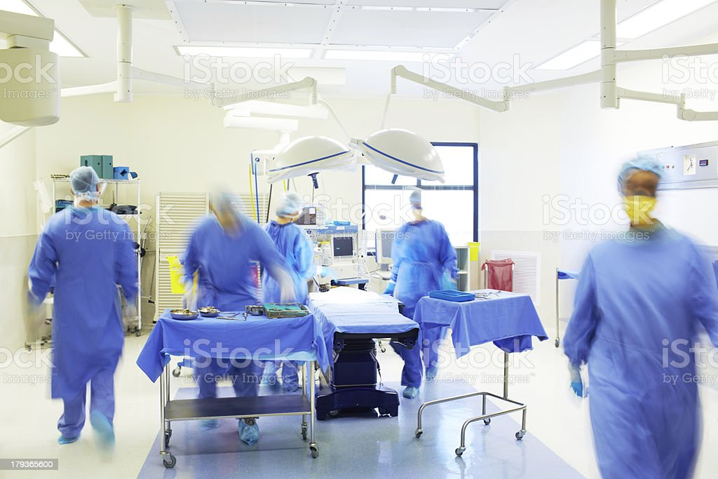 Preparing for surgery stock photo