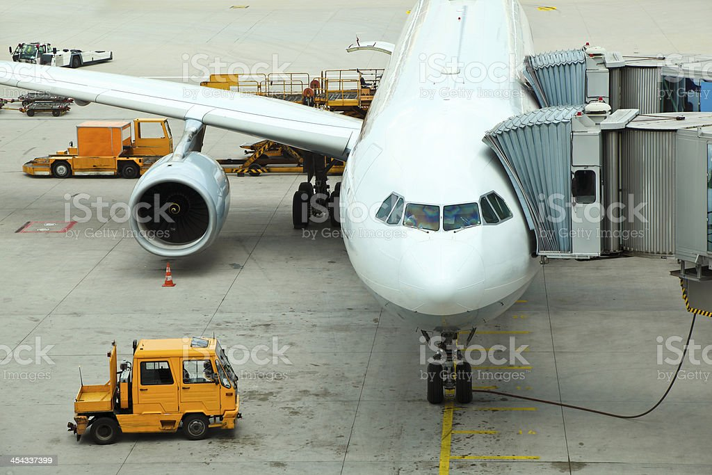 Preparing for the flight royalty-free stock photo