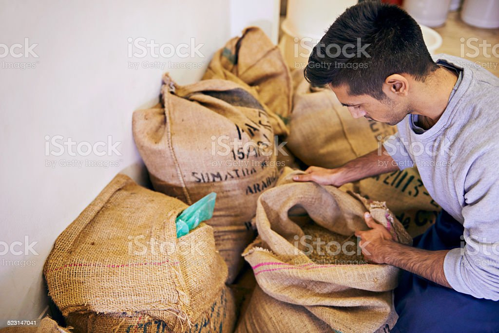 Preparing for the long export journey stock photo