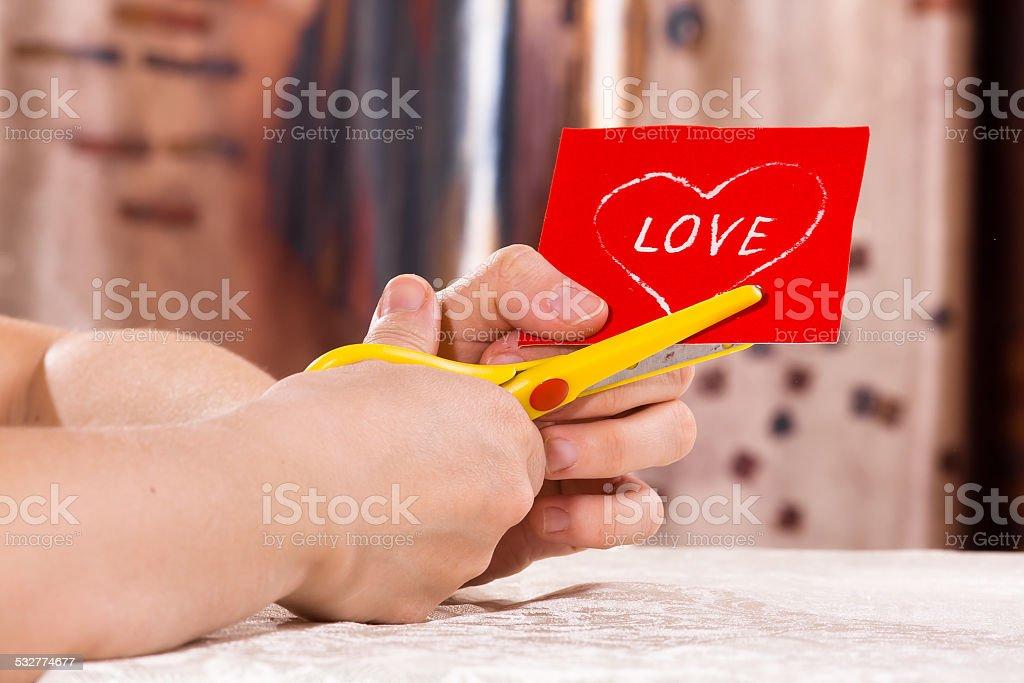 preparing for Valentine's day stock photo
