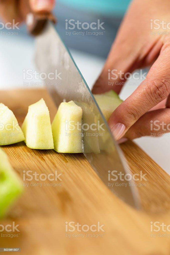 Preparing fruit salad stock photo