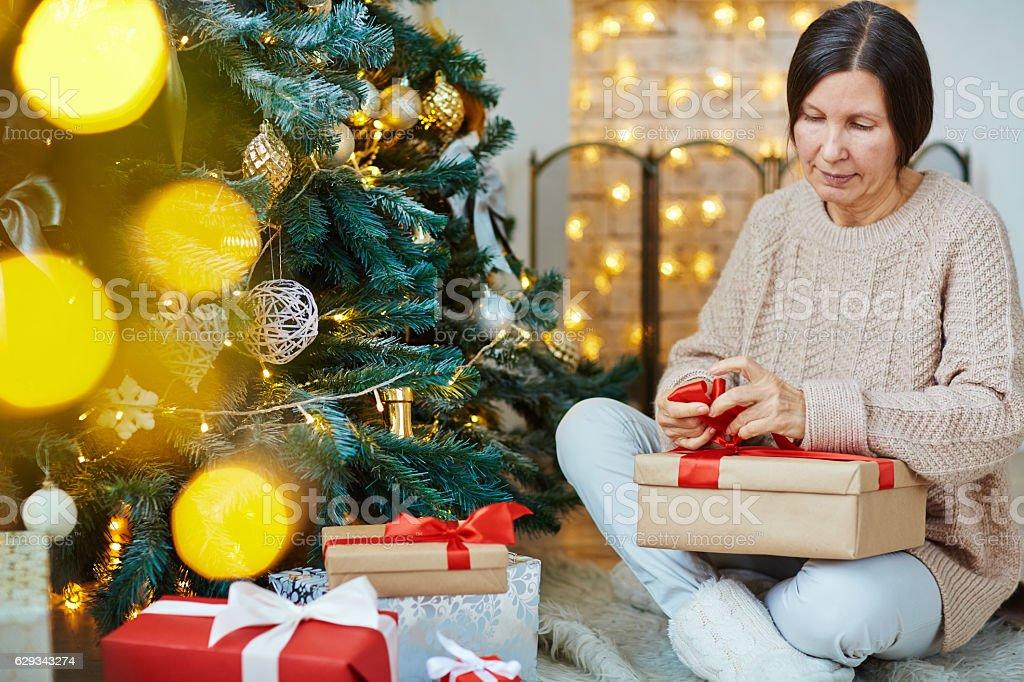Preparing gifts stock photo