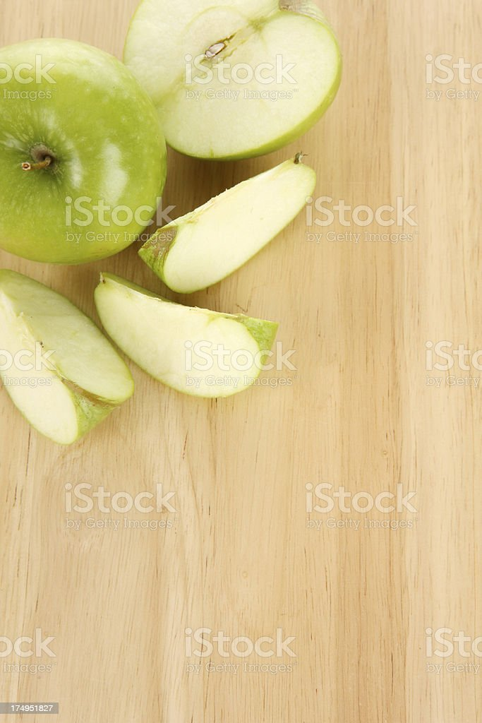 Preparing Granny Smith Apples royalty-free stock photo